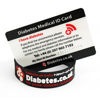 Diabetes medical ID card