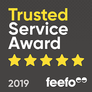 Feefo Gold Trusted Service 2019 Award