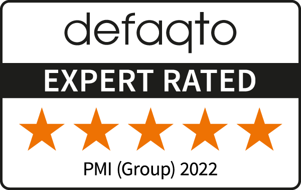 Defaqto Expert Rated 5 Star Award PMI (Group) 2021